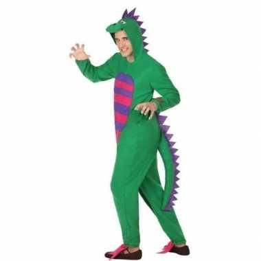 Carnaval/feest groene draak verkleed pak volwassenen
