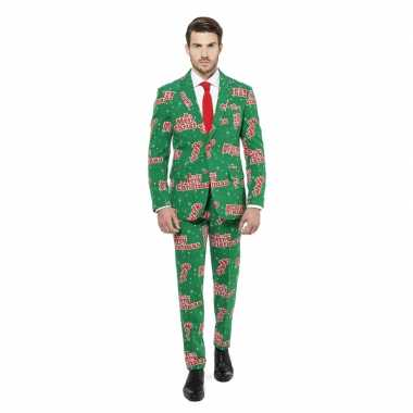 Compleet pak groen kerst print