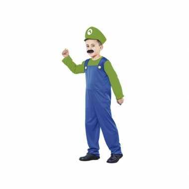 Voordelig groen Loodgieter pak jongens